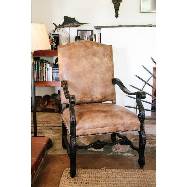 Stanford Furniture Leather Chairs - A Pair - Image 4 of 5