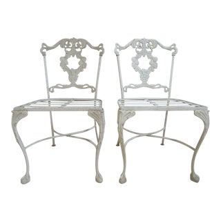 Vintage Aluminum Ball Claw Outdoor Patio Chairs - A Pair