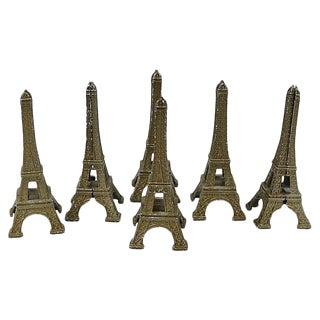 Vintage Eiffel Tower Placecard/Menu Holders - Set of 6