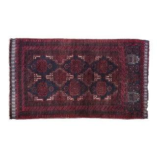 "Vintage Persian Belouch Rug 'Araz' - 2'10"" x 4'9"""