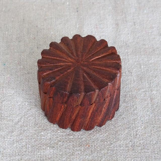 Hand Carved Indian Sheesham Nesting Boxes - 3 - Image 6 of 6