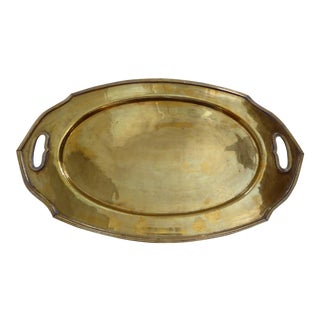 Moroccan Style Vintage Brass Tray