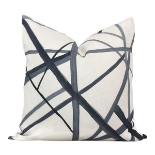 Groundworks Ebony Channels Pillow Cover