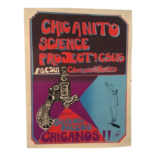 1970's Rcaf Science Needs Chicanos Poster by Jose Montoya