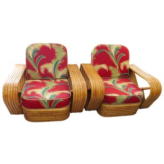 Paul Frankl Rattan Armchairs - A Pair