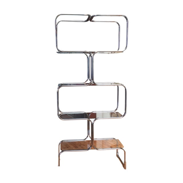 Italian Chromed Steel Etagere by Tricom - Image 1 of 5