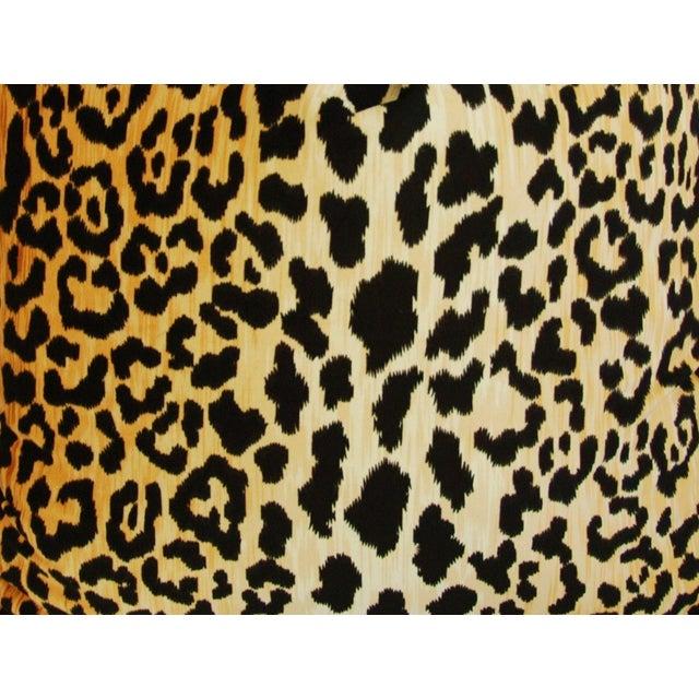 """Large 26"""" Safari Leopard Velvet Pillows - Pair - Image 6 of 9"""
