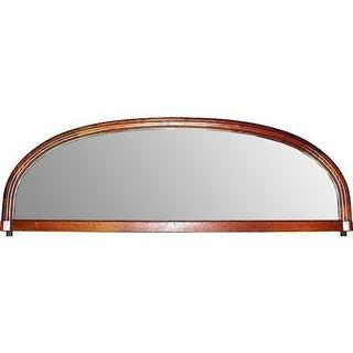 Antique French Art Deco Walnut Mirror
