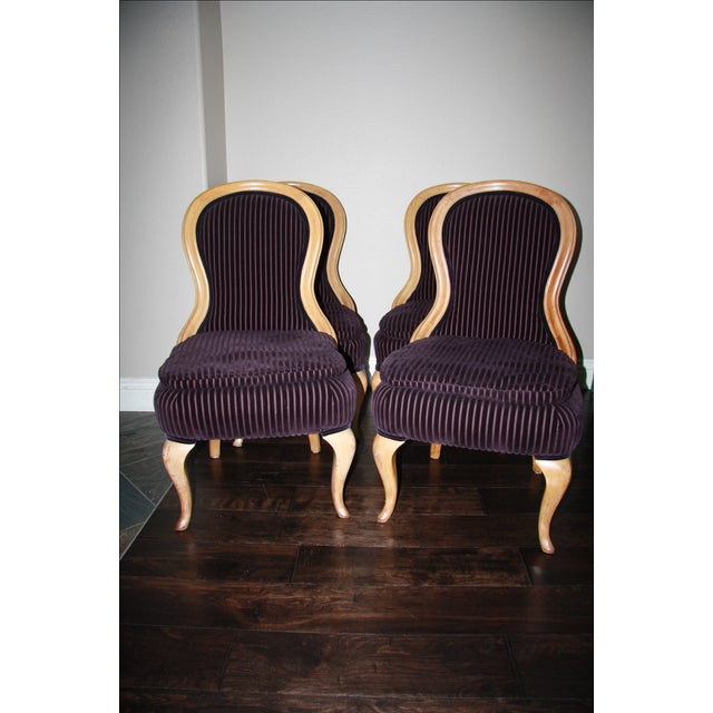 French Hourglass Dining Chairs -Set of 4 - Image 5 of 11