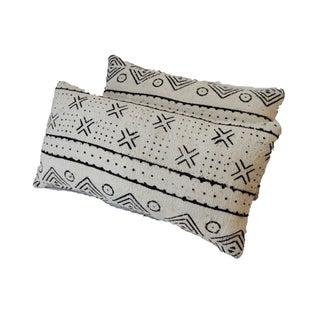 Mud Cloth Lumbar Pillows - A Pair