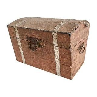 Antique Pirate's Trunk Box