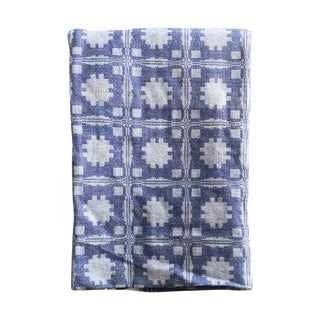Vintage Blue Rectangular Geometric Tablecloth
