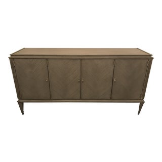 Hickory Chair Grand Artisan Ash Gray Credenza