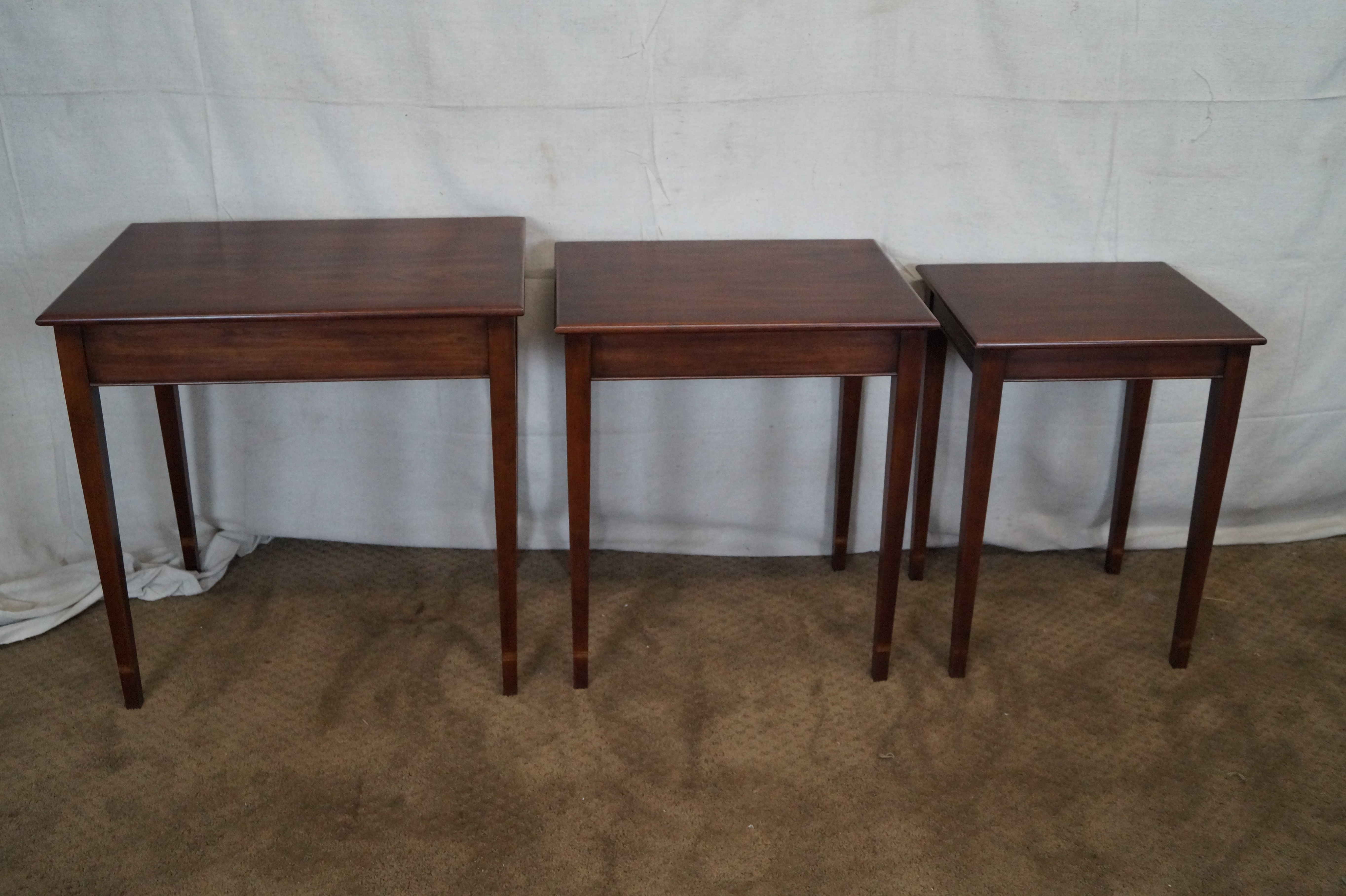 Henkel Harris Cherry Nesting Tables   Set Of 3   Image 7 Of 10