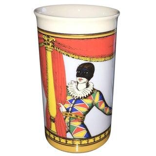 Fornasetti for Rosenthal Court Jester Petite Porcelain Vase