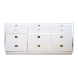 Drexel Mid-Century White Lacquer Campaign Dresser