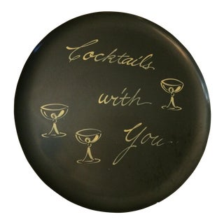 Vintage Cocktails With You Bar Serving Tray