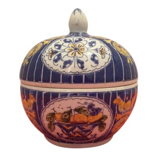 Chinoiserie Porcelain Dome Ginger Jar
