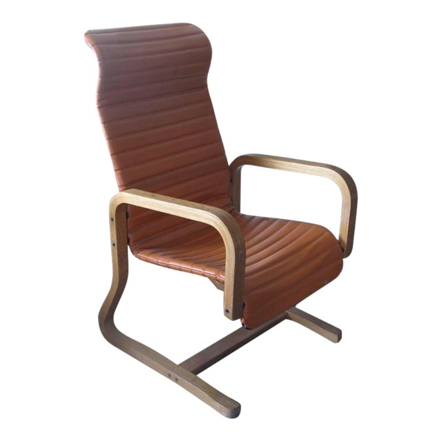 Thonet Oak Laminated High Back Lounge Chair - Image 1 of 11
