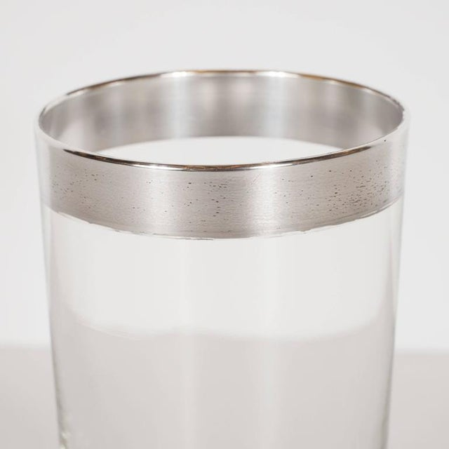 Mid-Century Sterling Silver Overlaid Highball Glasses by Dorothy Thorpe - Image 3 of 6