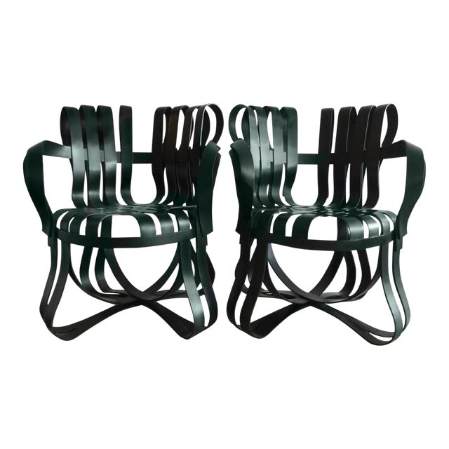 Frank Gehry for Knoll Int. Crosscheck Armchairs - A Pair - Image 1 of 1