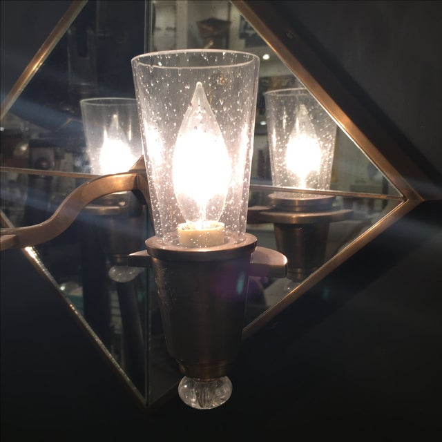 Double Arm Mirrored Sconce - New - Image 5 of 9