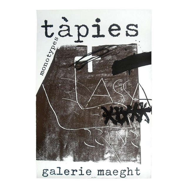 "Antoni Tapies ""Monotypes"" Poster, Galerie Maeght - Image 1 of 2"