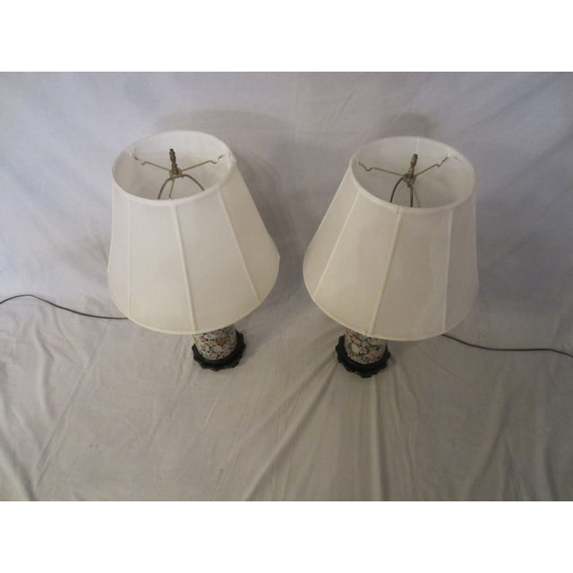 Asian Inspired Lamps With Night Light - A Pair - Image 5 of 8