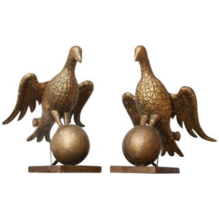 Pair of Large Early 18th Century Bookstands Carved as Doves