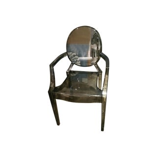 Victorian Charcoal Ghost Chair