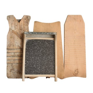 Vintage French Country Washboards - Set of 4