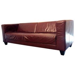 EQ3 Red Leather Stella Sofa