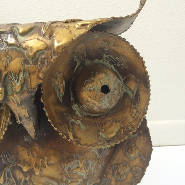 Image of Curtis Jere Mid-Century Brutalist Owl Sculpture