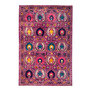 """Suzani Hand Knotted Area Rug - 5' 10"""" X 8' 10"""""""
