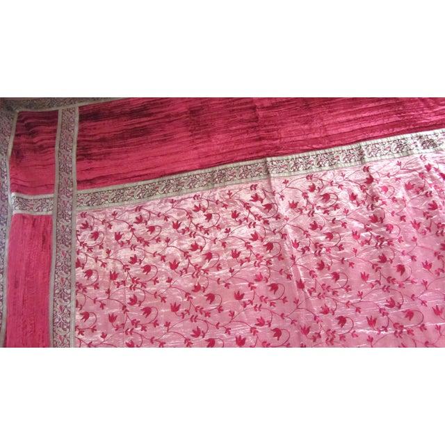 Image of Boho Chic Red Velvet & Gold Lamé Bedcover/Textile Art
