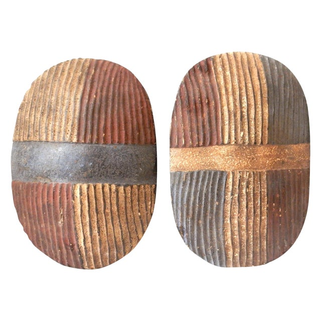 Songye Shield Wall Hangings - Pair - Image 1 of 8