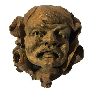 German Carved Oak Gargoyle