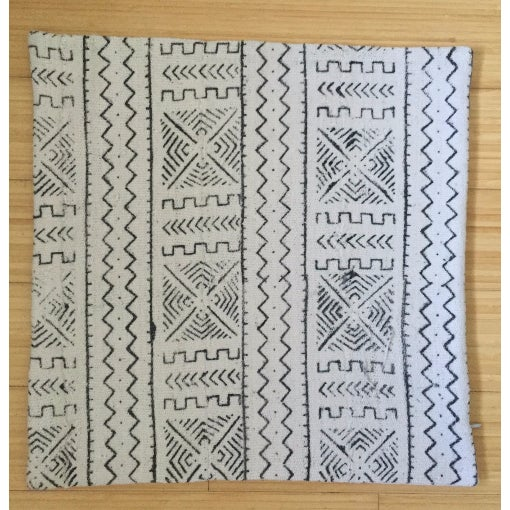 White African Mudcloth Pillow Cover - Image 2 of 3