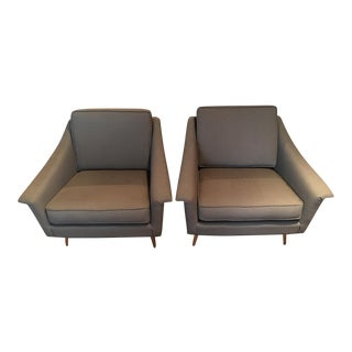 Thayer Coggin Mid-Century Reupholstered Chairs - A Pair