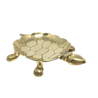 Vintage Brass Turtle Tray