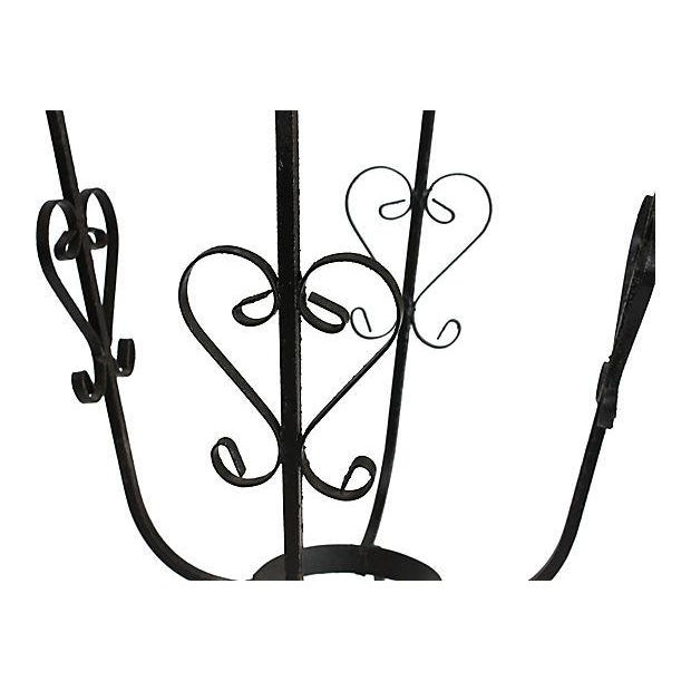 1950s Wrought Iron Bistro Set - Set of 3 - Image 5 of 10