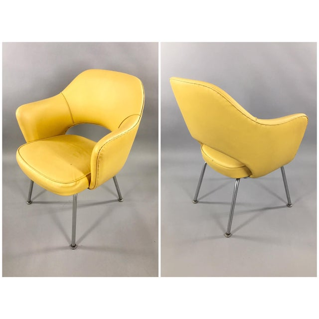 Original 1950's Vintage Eero Saarinen for Knoll Model 71 Executive Armchairs - a Pair - Image 2 of 11