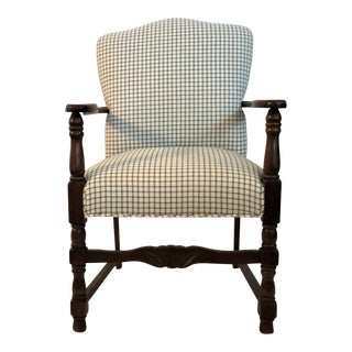 Vintage French Fauteuil Arm Chair - Custom Upholstered