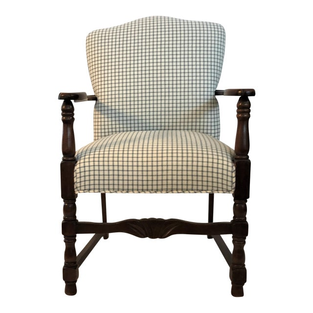 Vintage French Fauteuil Arm Chair - Custom Upholstered - Image 1 of 6