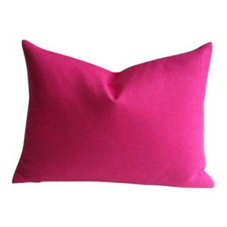 Fuchsia European Linen Lumbar Pillow Cover
