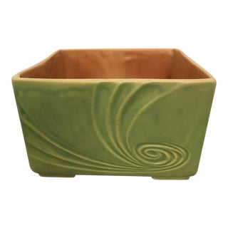 Roseville Pottery Footed Square Planter