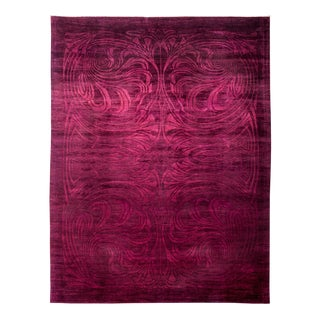 "Vibrance Over Dyed Hand Knotted Area Rug - 9'2"" x 11'10"""