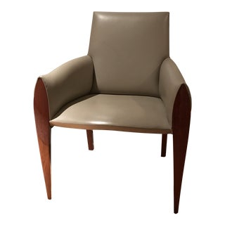 Dakota Jackson Kezu Leather Upholstered Chair