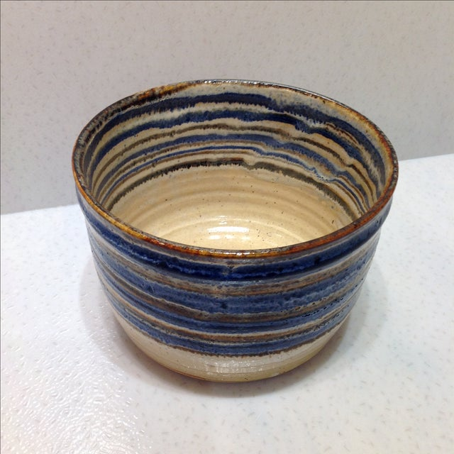 Vintage Handmade Pottery Bowl - Image 7 of 10