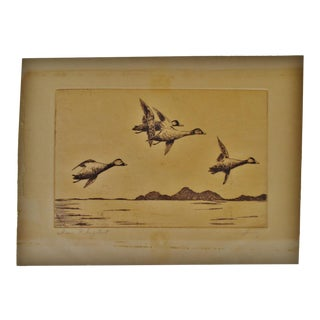 Early Signed Engraving - In Flight